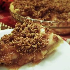 Apple Streusel Pie  vegan, plantbased, Earth Balance, Made Just Right