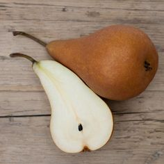 Pear, Sliced and Topped with Almond Butter