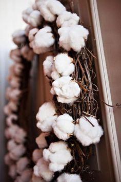 Cotton Wedding Decorations-Cotton Wreath
