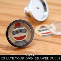 Easy to make drawer pulls! Kit includes Glamour FX glass insert. Annie Howes.