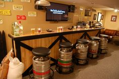 For the party room. Amazon.com: The Keg Stool Kit - Turn a Keg Shell into a Bar Stool: Sports & Outdoors