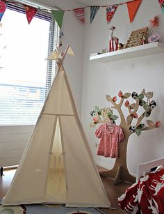 The future kids will have tents in their rooms. Maybe my girl's will have a chandelier in the tent as well??