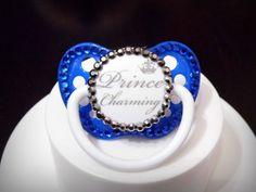 Bling Pacifier Binky Paci Baby Pacifier by BeccaRooni on Etsy, $16.00