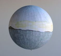 Russell Crotty.  ball point pen globe drawings