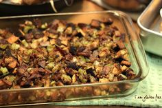 Mom's Famous Stuffing | FaveGlutenFreeRecipes.com (gluten free stuffing, gluten free side dishes, gluten free thanksgiving) side dishes, stuffing recipes, thanksgiving recipes, side dish recipes, gluten free sides