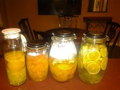 My healthy fruit waters for detox!