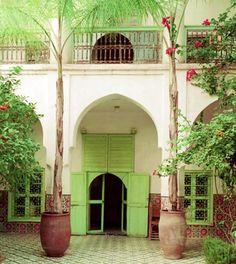 green doors, color, dream, architectur, casa, limes, place, courtyard, bohemian