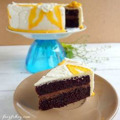 Very Chocolate Cake with Marshmallow Fondant from Foxy Folksy