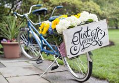 Real Wedding/Kari and Duncan's Tandem Bike. De Nueva Photography #budgetwedding #backyardwedding #diy