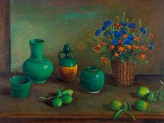 Chinese pots with lemons  Margaret Olley, 1982