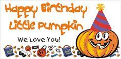 Birthday Pumpkin Banner, personalized