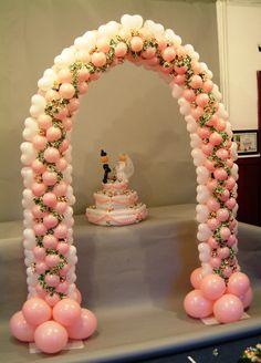 Wedding hearts around. heart arch, balloon arch