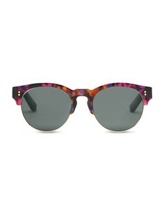 TOMS fan favorite Charlie Rae shades now come in a groovy pinky purple craze speckled tortoise print.