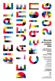 Colorful typeface