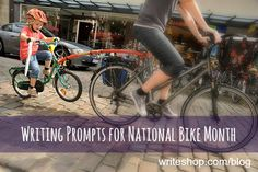 Bicycle writing prompts for National Bike Month - In Our Write Minds
