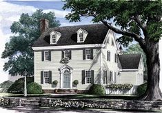 Kinda what I'm talking about! Move the center hall stairs... to the front inside, open kitchen to great, close in dining, and add a bedroom  upstairs :) ok... so not really but hey! Colonial   Southern   House Plan 86168
