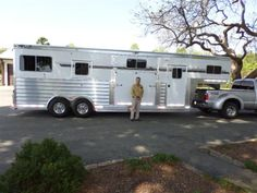 Congratulations to John Gaither of Bahama, NC on the purchase of his new 4-Star Deluxe 4 Horse Head to Head from Jim Link at LA Trailer Sales, LLC. (800) 350-0358  (He said 4-Star took a mans idea and made it a reality!)