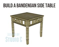 Build a Bandengan Side Table