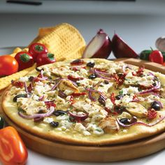 Mediterranean Thin Crust Pizza