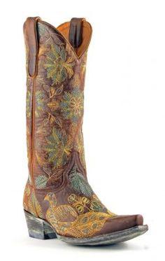 Womens Old Gringo Pepita Cowboy Boots Vesuvio Brass #L1599-1