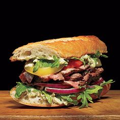 Steak Baguettes with Pesto Mayo | CookingLight.com
