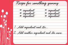 Free Recipe Card Templates : Floral Pop Printable Recipe Cards