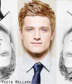look at those blue eyes...team peeta all the way!
