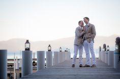 Jeff + Sebastian's Lake Tahoe private estate wedding. Wedding design by Merrily Wed.