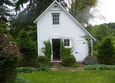 Don Statham Design: Ice House turned into garden shed. Totem Farm