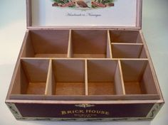 diy divided cigar boxes - must do this with one or two of my boxes.