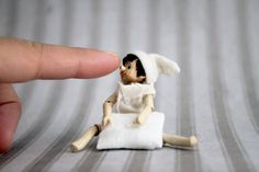 Pinocchio the wooden doll in a small glass jar by MonkEyGstudio, $300.00