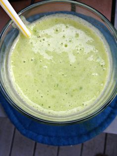 Tropical Kale Smoothie 1/2 cup coconut milk 2 cups chopped kale 1.5 cups frozen pineapple 1 ripe banana Water as needed  Combine the coconut milk, kale, frozen pineapple, and banana in a blender.  Puree until smooth for at least one minute.  Add water as necessary to reach your desired consistency.