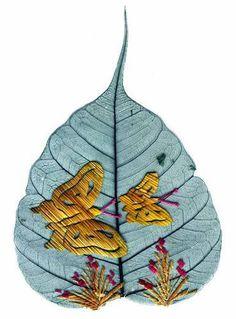 arti stuff, earth art, feather art, creativ leaf, leaf art, leaves, art pictures, butterfli leaf, artist butterfli