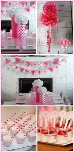 Centerpieces for girl party. Love