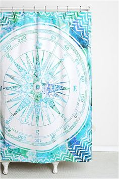 a bright, modern shower curtain pattern will add a fun, trendy, springtime vibe to any bathroom ... Spruce Up Your Bathroom & Rotator Rod Shower Rod with Springtime Shower Curtains from Bathroom Bliss by Rotator Rod