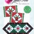 Place mat pattern: Poinsettia Baskets feature trip-pieced diamonds in pretty baskets. Make a set of place mats or a table runner. You can find the pattern for PDF download at www.craftsy.com.
