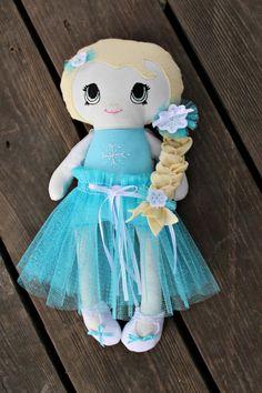 Ice Queen Elsa Handmade cloth doll 13 by deniseslittledreamer, $45.00