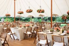 hanging flowers, tent recept, tent decorations