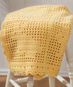 Crochet Filet Bunny Afghan - cute free Easter crochet pattern