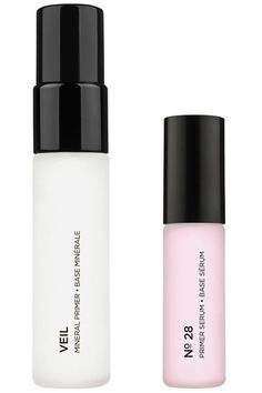 Hourglass Primer Set  This travel set features mini sizes of two beloved primers. The Mineral formula soothes redness and tightens pores with a touch of SPF 15 while the No. 28 Primer Serum contains 28 skin-nourishing ingredients to age-proof skin and prep it for makeup. Both are water resistant, making them ideal for resort season getaways.    Hourglass Primer Set, $25, sephora.com.