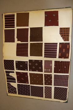 Book of printed cottons, 1863-68, approx. 29 pages of Indiennes, florals, geometrics, mainly in rich purples, browns - NOTE:  GREEN, PURPLE, BLUE AND RED all could fade to brown over the years, so these swatches may not look like the originals at all.  Use these as guides for print patterns, rather than colors.