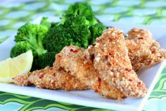 Healthy Spicy Chicken Strips Recipe ~ Great Low Carb Meals