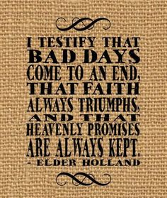 heaven promis, elder holland