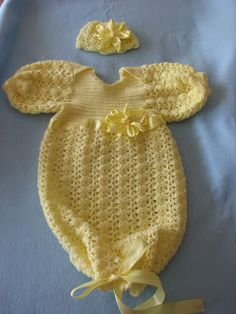 Donna's Crochet Designs Blog of Free Patterns: Pajamas For Baby//several different styles