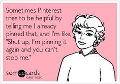 I'll pin it again if I want!