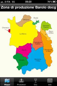 Zone of Production of DOCG Barolo