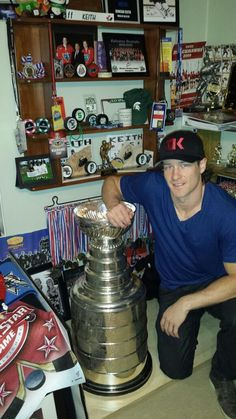 Duncan Keith brought the Stanley Cup back to his old room