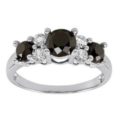 diamond jewelry, diamond rings, black and white diamond ring, black diamond