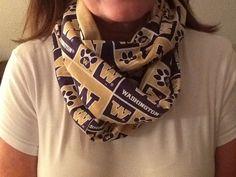 University of Washington huskies infinity scarf on Etsy, $15.00
