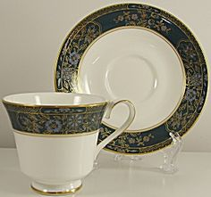 Royal Doulton Carlyle Footed Cup & Saucer Set H5018. Please click on the image for more information.